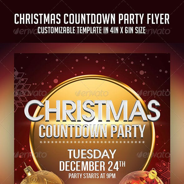 Christmas Countdown Party Flyer