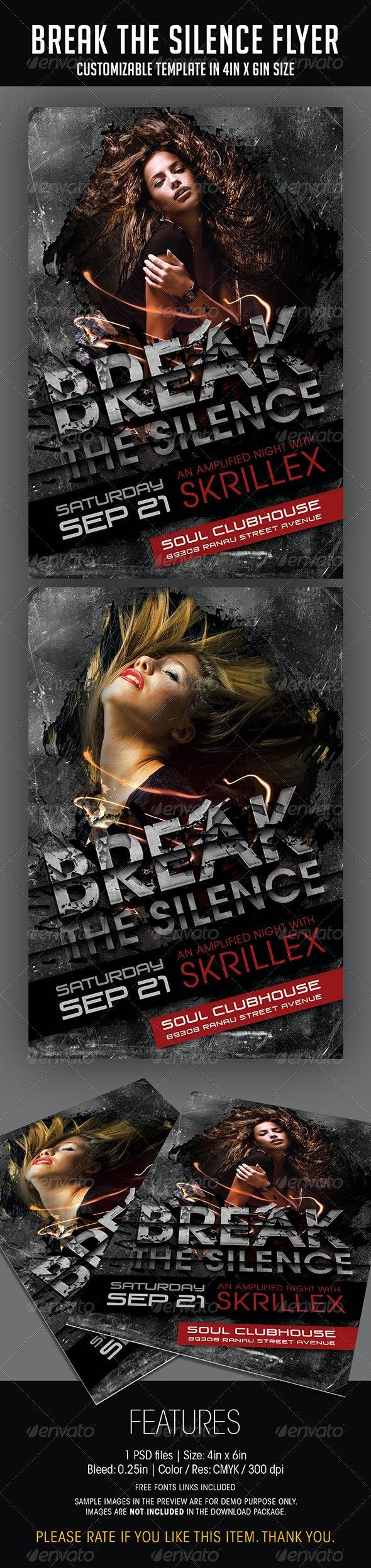 Break The Silence Party Flyer - Print Templates