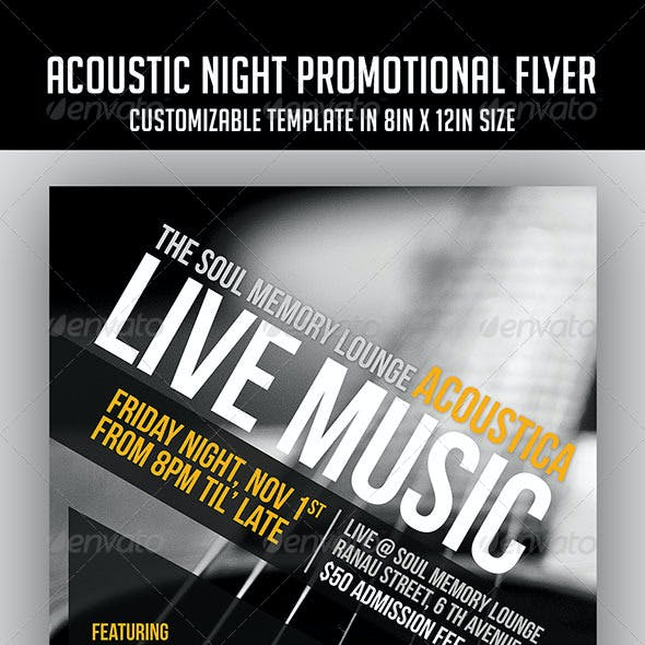 Acoustic Night Promotional Flyer