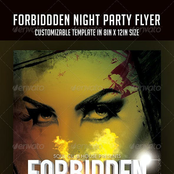 Forbidden Night Party Flyer