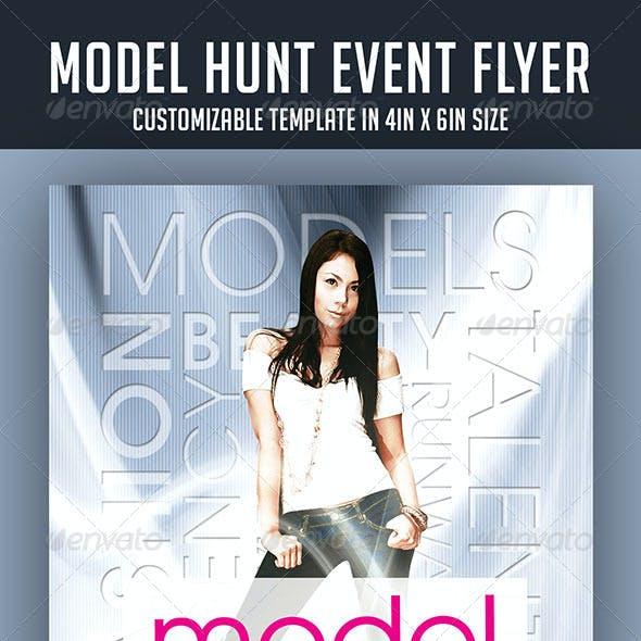 Model Hunt Event Flyer