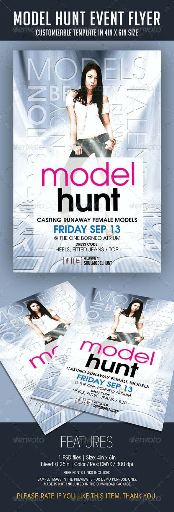 Model Hunt Event Flyer - Events Flyers