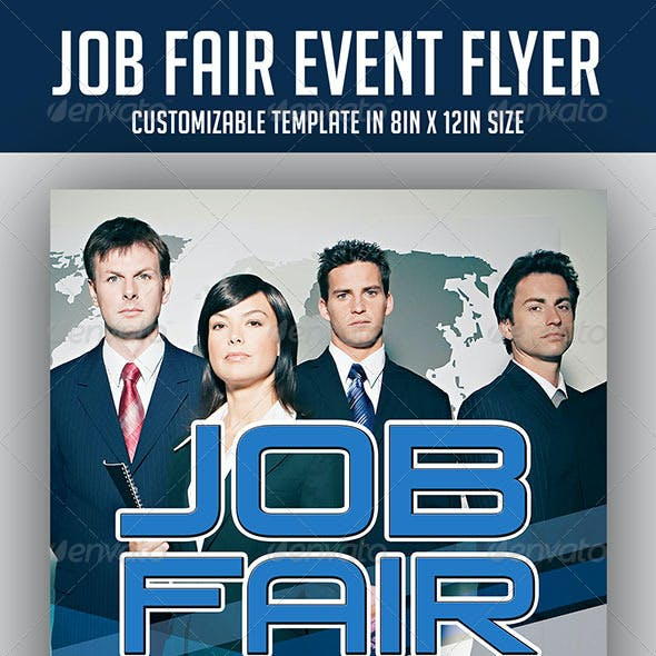 Job Fair Event Flyer