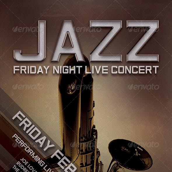 Jazz Live Concert Flyer