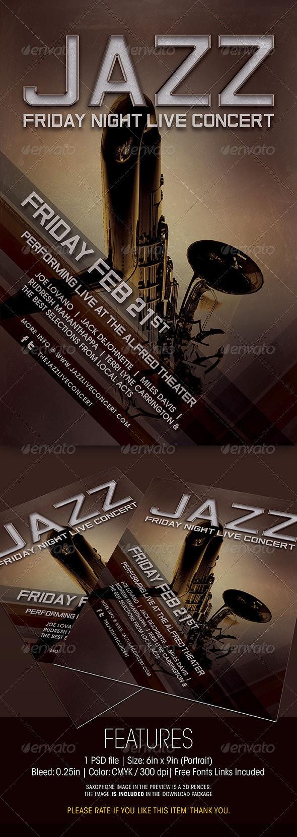 Jazz Live Concert Flyer - Concerts Events