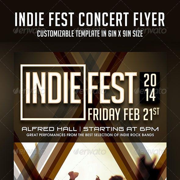 Indie Fest Concert Flyer