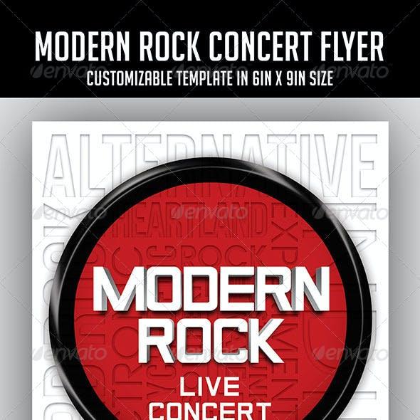 Modern Rock Concert Flyer