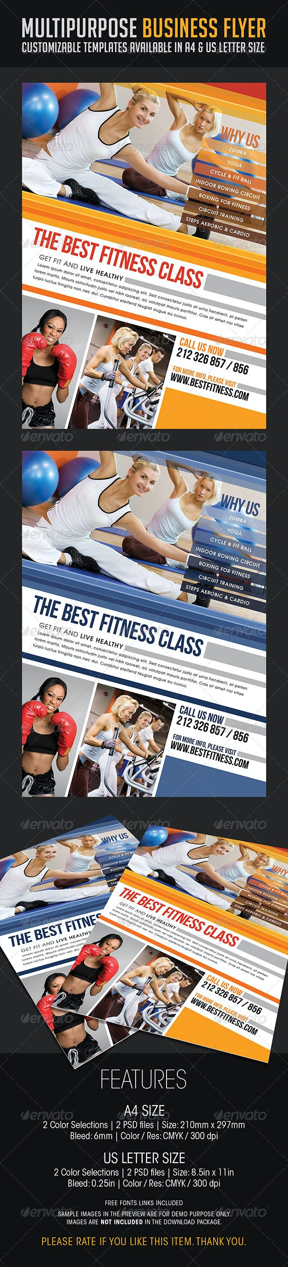 Multipurpose Business Flyer 04 - Flyers Print Templates