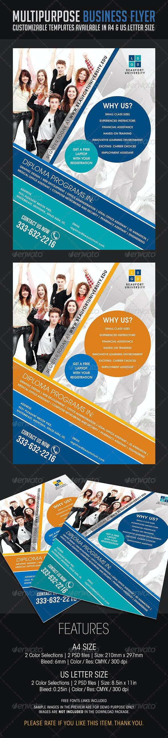Multipurpose Business Flyer 09 - Flyers Print Templates