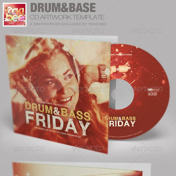 Drum and Base Friday CD Artwork Template