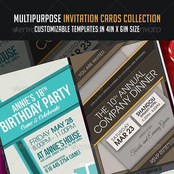 Multipurpose Invitation Cards Collection