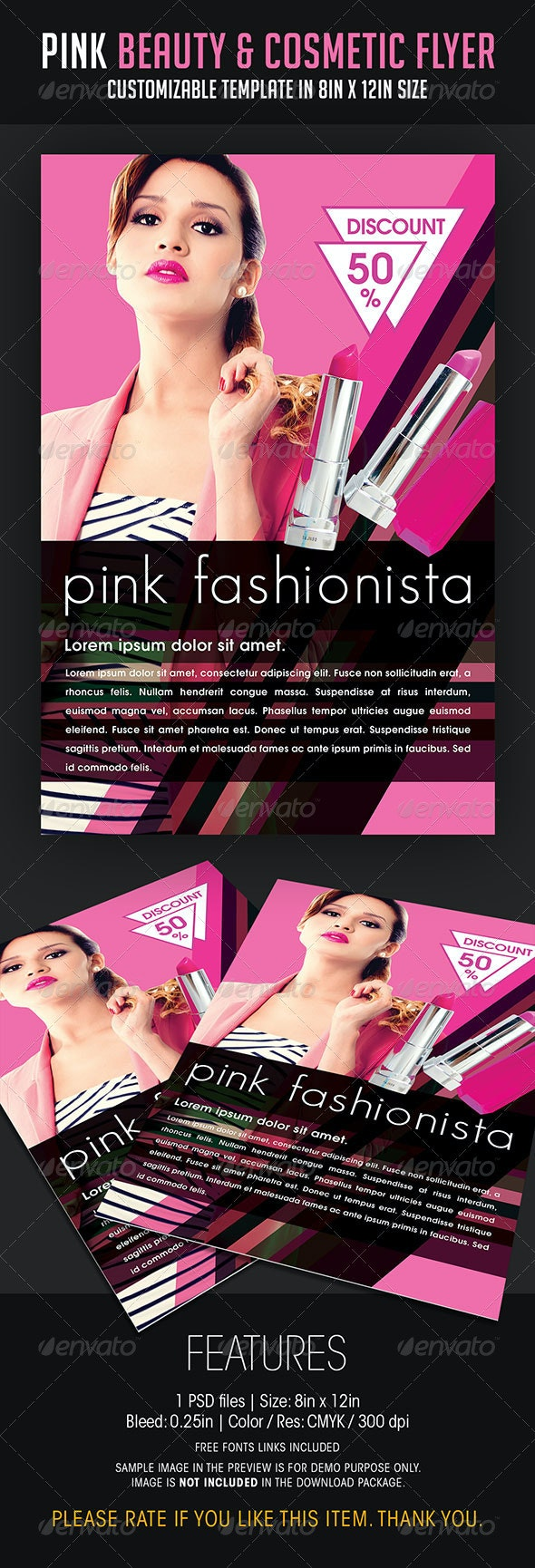 Pink Beauty and Cosmetic Flyer - Flyers Print Templates