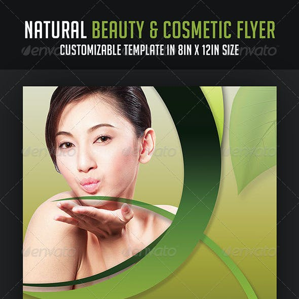 Natural Beauty and Cosmetic Flyer