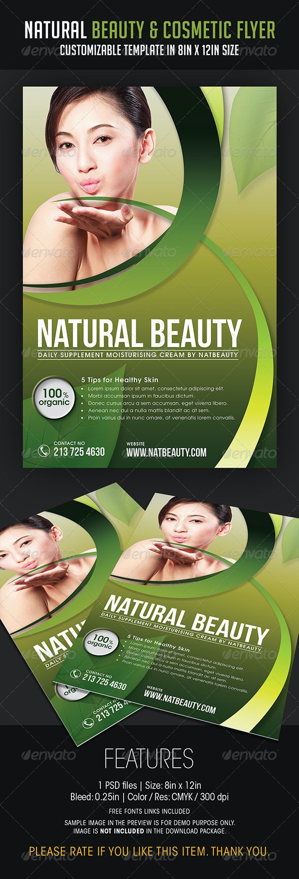 Natural Beauty and Cosmetic Flyer - Commerce Flyers