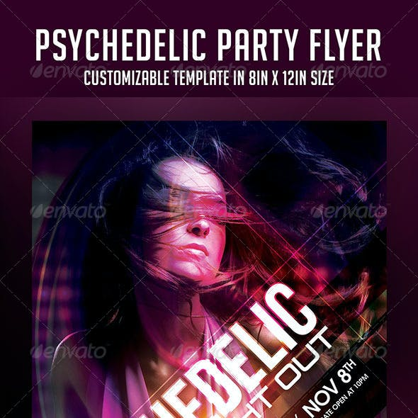 Psychedelic Party Flyer