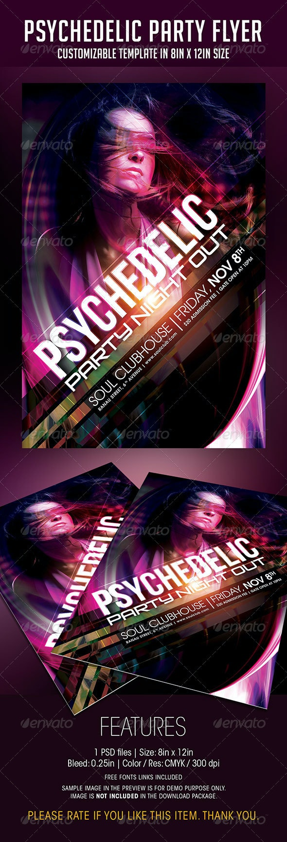 Psychedelic Party Flyer - Clubs & Parties Events