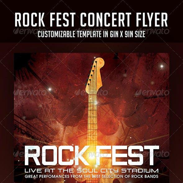 Rock Fest Concert Flyer
