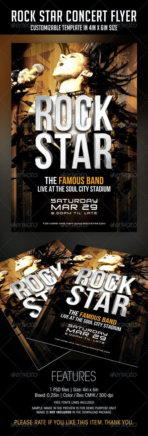 Rock Star Concert Flyer - Concerts Events