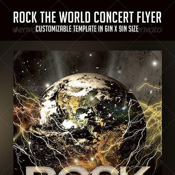 Rock The World Concert Flyer
