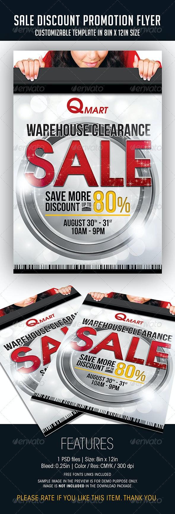 Sale Discount Promotion Flyer - Miscellaneous Events