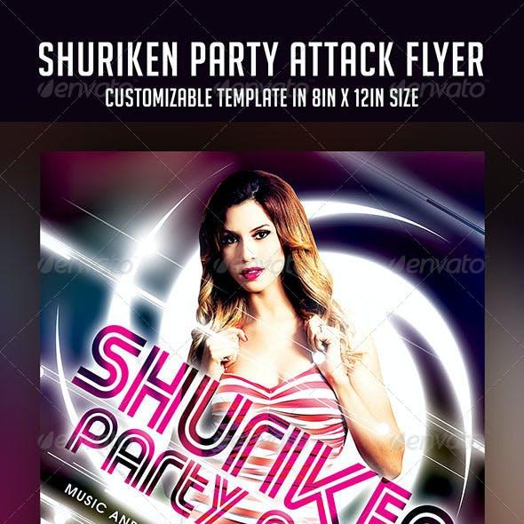 Shuriken Party Attack Flyer