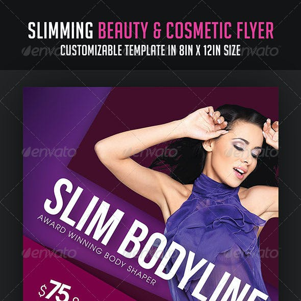 Slimming Beauty and Cosmetic Flyer
