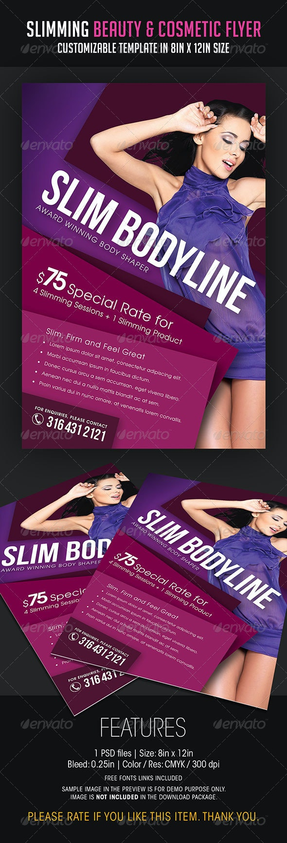 Slimming Beauty and Cosmetic Flyer - Flyers Print Templates