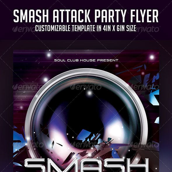 Smash Attack Party Flyer