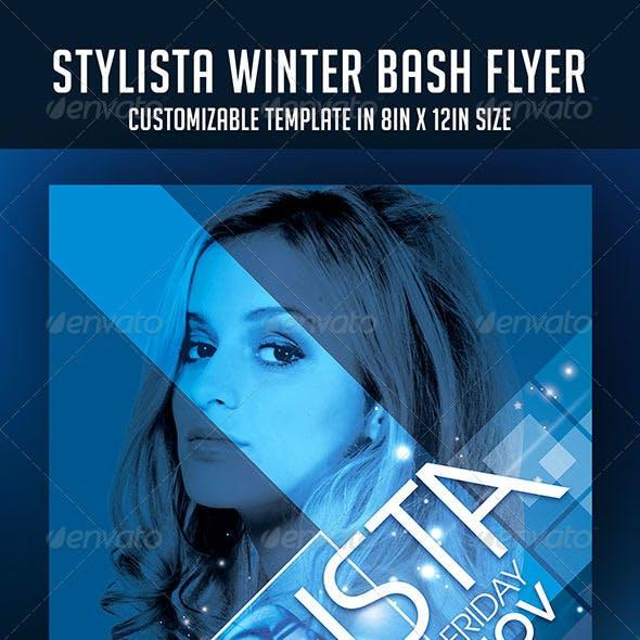 Stylista Winter Bash Party Flyer