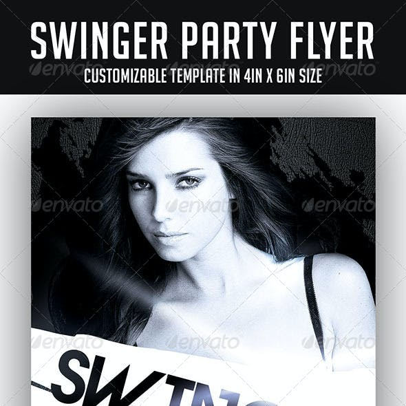 Swinger Party Flyer