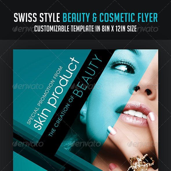 Swiss Style Beauty and Cosmetic Flyer