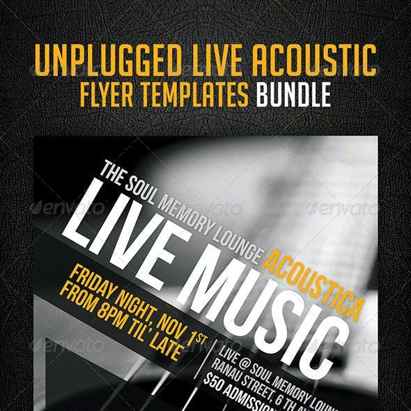 Unplugged Live Acoustic Flyer Templates Bundle