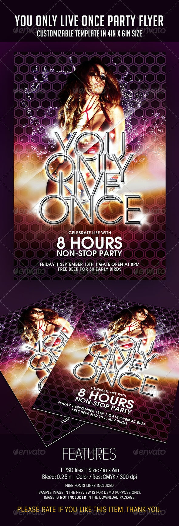 You Only Live Once Party Flyer - Clubs & Parties Events