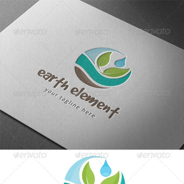 Earth Nature Element Logo