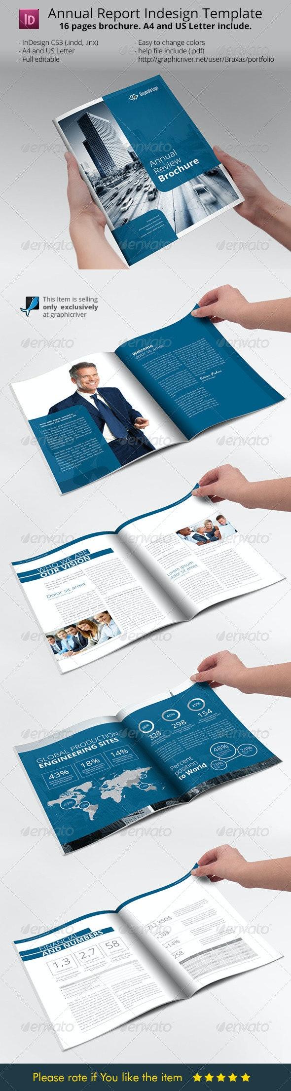 Annual Report Brochure Indesign Template - Informational Brochures