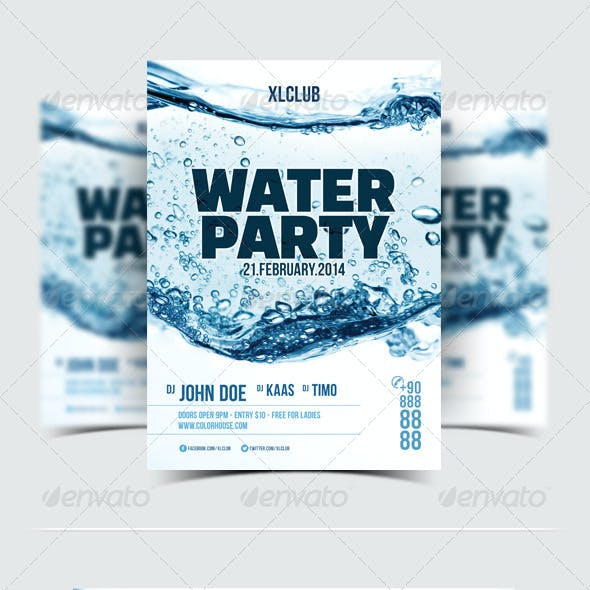 Water Party Flyer/Poster - 09