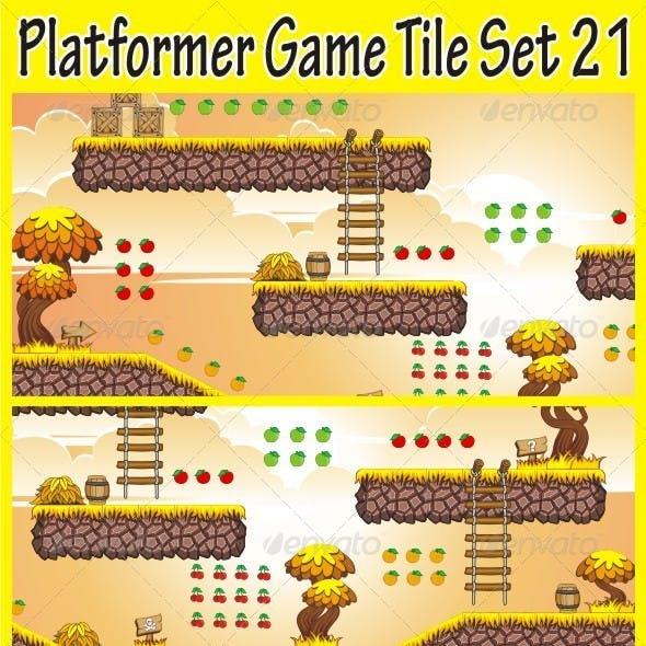 Platformer Game Tile Set 21