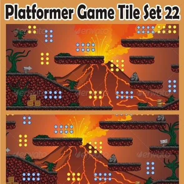 Platformer Game Tile Set 22
