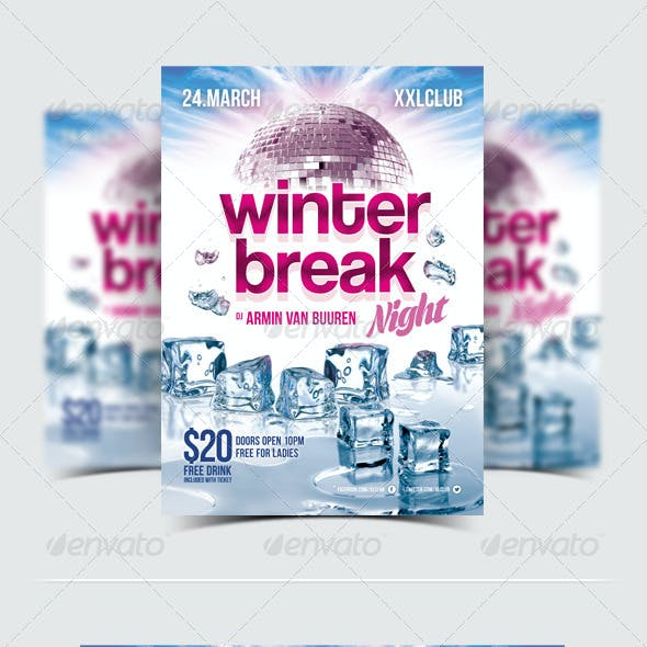 Winter Break Party Flyer / Poster - 12