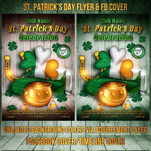 St. Patrick's Day Flyer / FB Cover