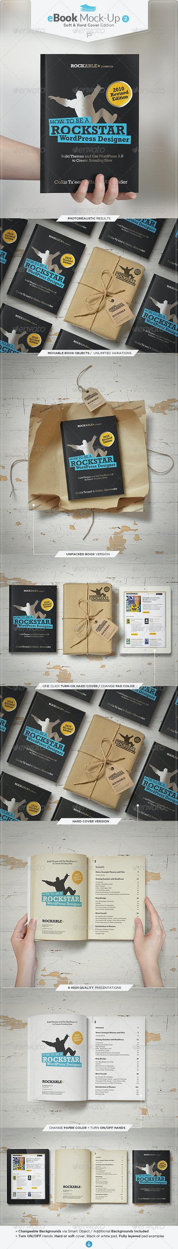 eBook Mock-Up Set 2 / Soft & Hard Cover Edition - Books Print