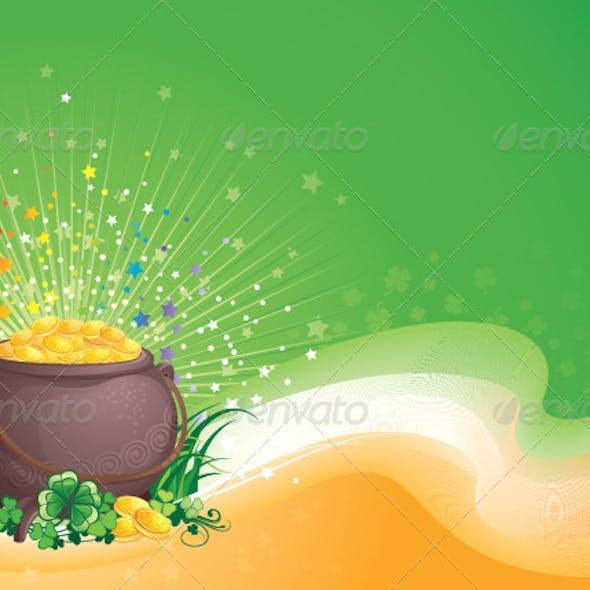Pot of Gold for Saint Patrick's Day
