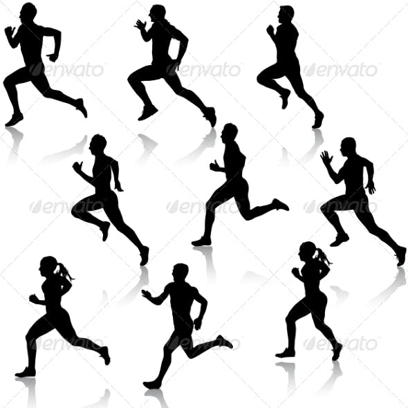 Running Silhouettes Set