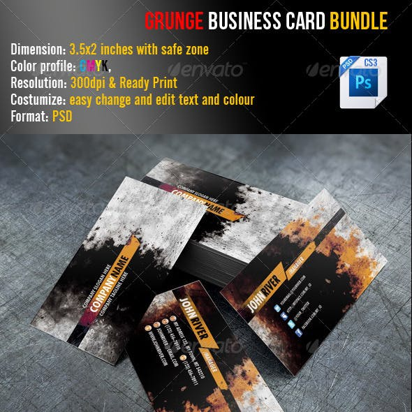 Grunge Business Card Bundle