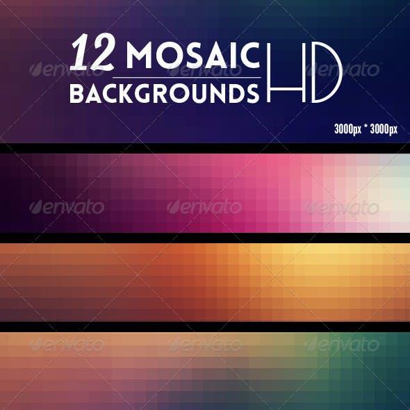 12 Mosaic Backgrounds HD