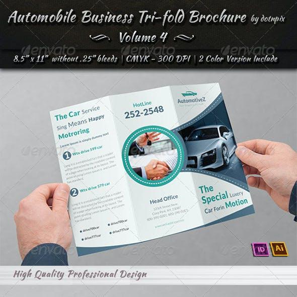 Automobile Business Tri-Fold Brochure | Volume 4