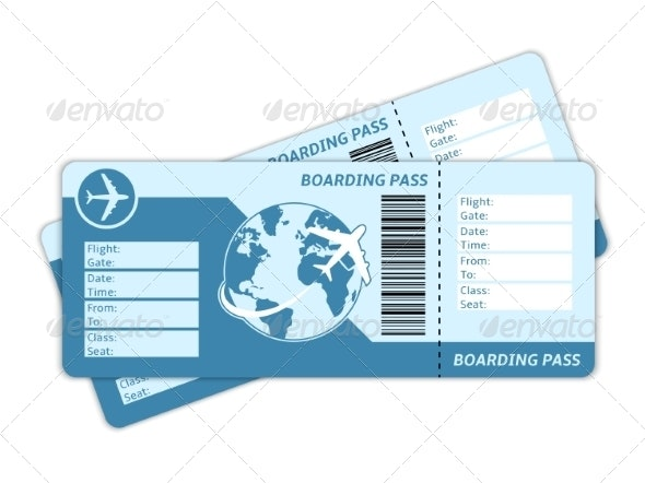 Blank Plane Tickets - Travel Conceptual