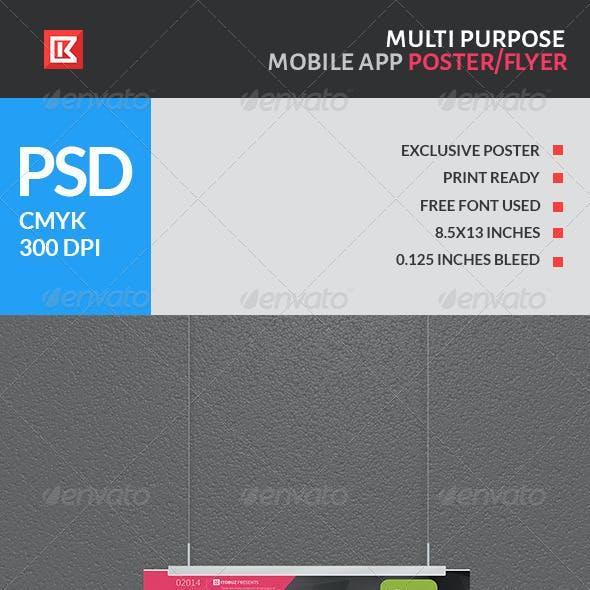 Multipurpose Mobile App Poster/Flyer