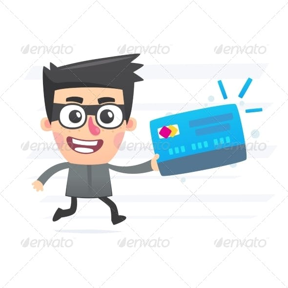 Thief with plastic card