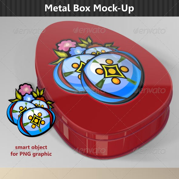 Egg Metal Box Mock-Up